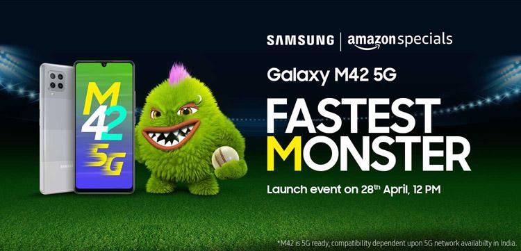 Смартфон Samsung Galaxy M42 5G среднего уровня представят 28 апреля
