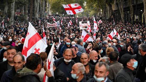 На акцию «Свободу Мише» в центре Тбилиси пришли более 20 тыс. человек
