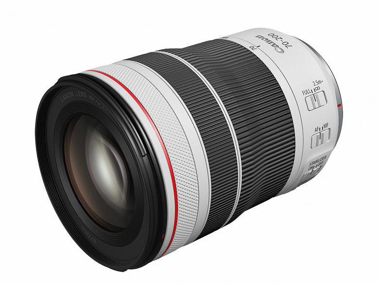 Начало поставок объективов Canon RF70-200mm F4 L IS USM перенесено на март будущего года