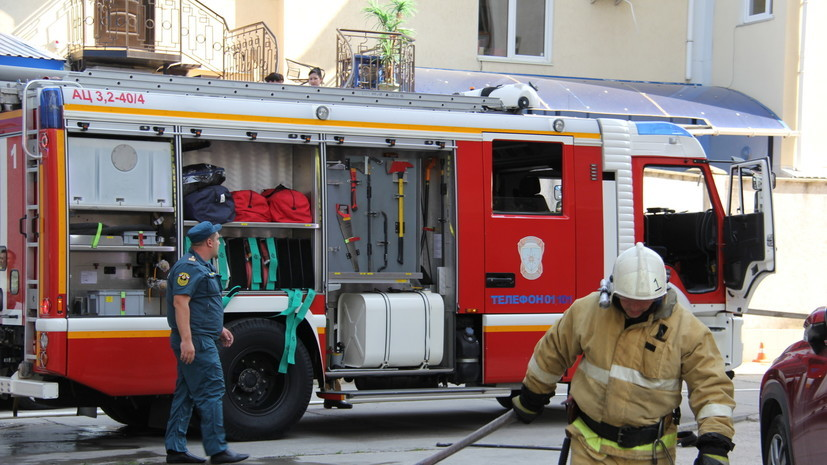 Склад с бытовой химией загорелся в Люберцах