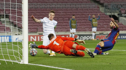 Гол Пике принёс «Барселоне» победу над киевским «Динамо» в ЛЧ