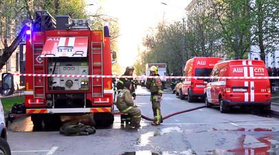 В результате пожара в московской гостинице погибли два человека — видео