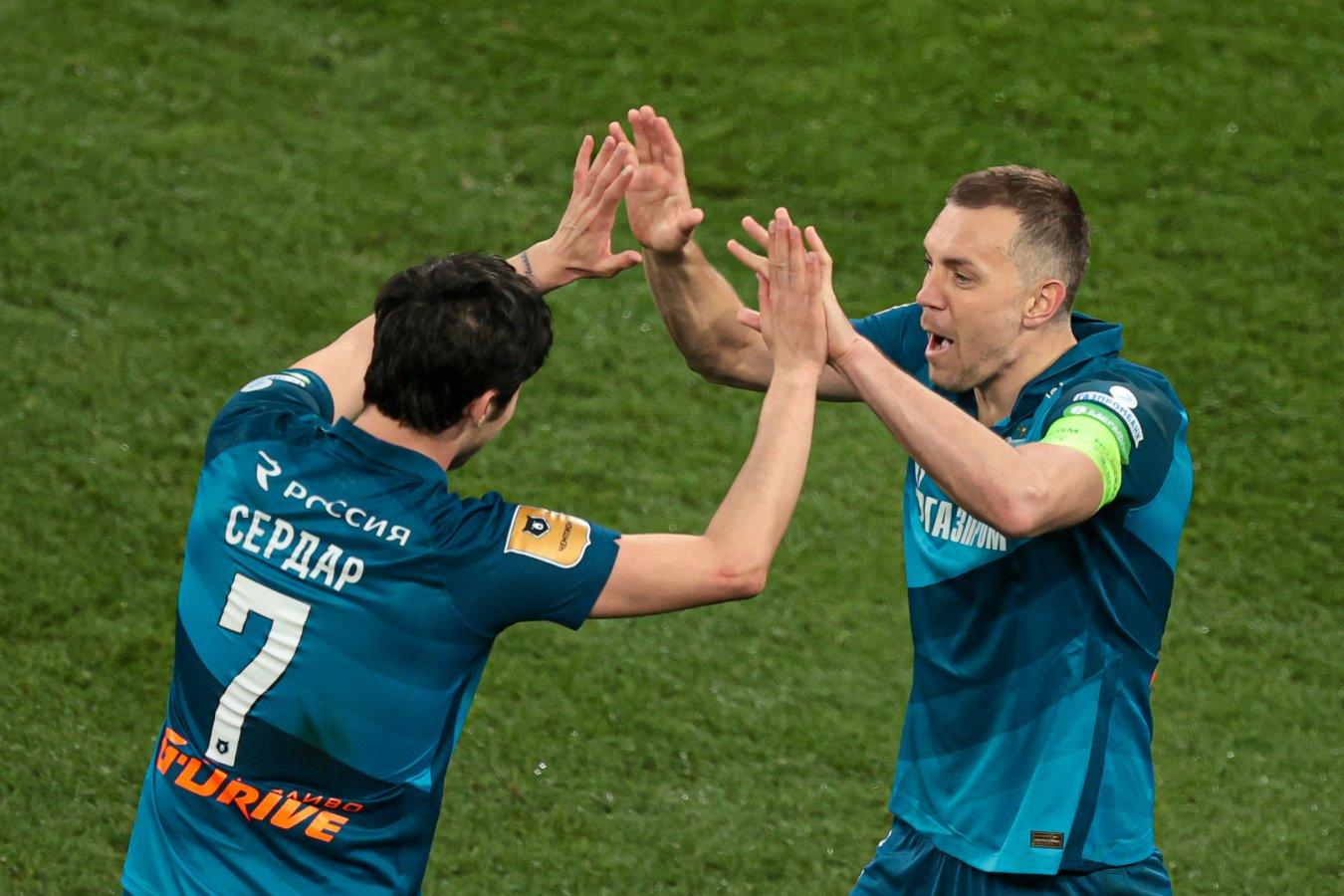 Дзюба и Азмун получили от WhoScored 10,0 за матч с «Локомотивом»