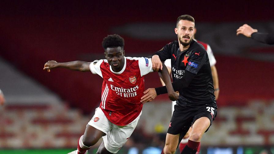 Игроки 'Славии' отказались вставать на колено перед матчем с 'Арсеналом'
