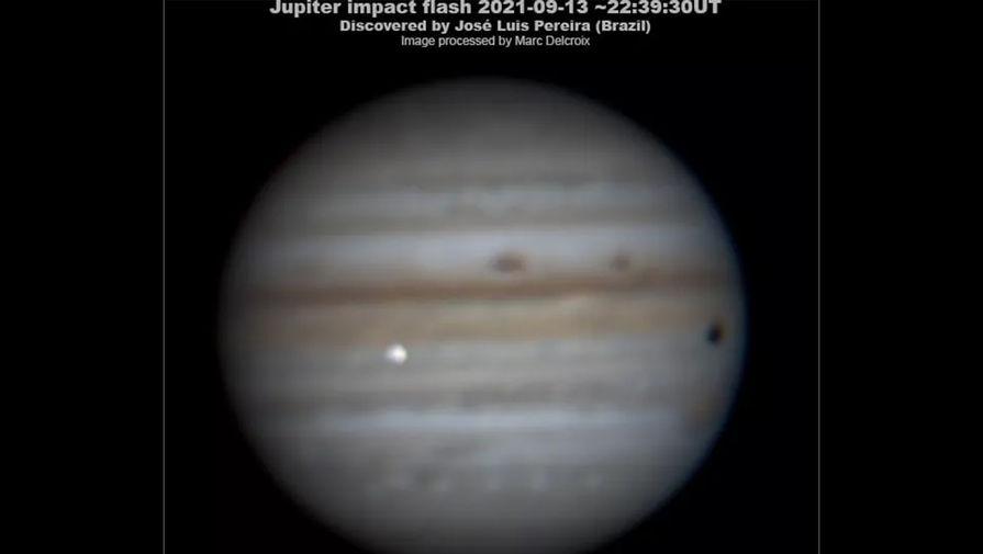 Астроном-любитель снял на видео падение астероида на Юпитер