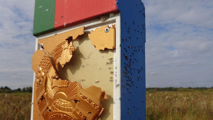 Белорусский погранзнак обстреляли с территории Украины