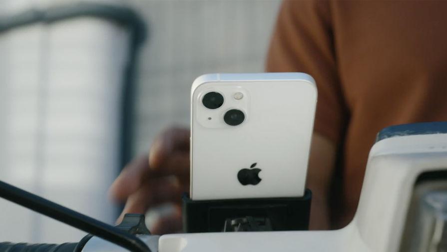 Apple разместила iPhone на мотоцикле вопреки собственным запретам