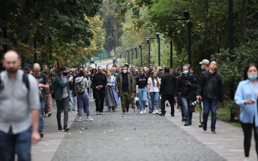 Участник марша националистов в Киеве сделал оскорбительное антисемитское заявление